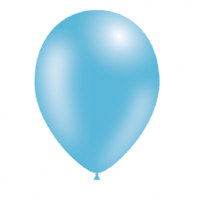 "Metallic Light Blue 5 inch Balloons - Decotex 5"" Balloons 100pcs"